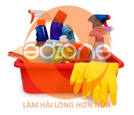 Giúp việc nhà theo giờ lựa chọn chất tẩy rửa